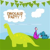 Dinosaur theme Birthday banner