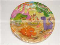Birthday Party Plates - Dino Theme Supplies | Dinosaur Party Decorations