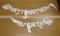 Dinosaur theme Dino Bones shaped Happy Birthday Bunting