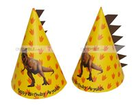 Dinosaur theme Spike shaped hats