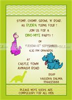 Dinosaur theme Rectangular Invitations