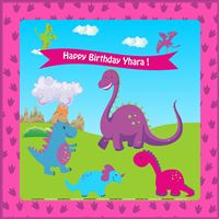 Dinosaur theme Pink Dinosaur Party Backdrop