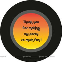 Disco theme Disco thank you cards