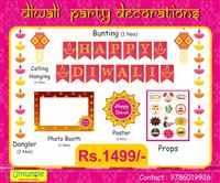 Diwali theme party - Diwali Party Props and Decoration Kit (Pack of 18 pcs)