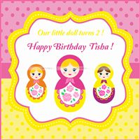 Doll Birthday Party theme Doll Birthday Backdrop