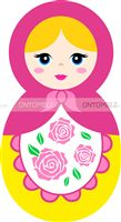 Doll Birthday Party theme Doll Cutout