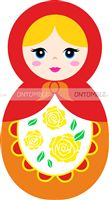 Doll Birthday Party theme Orange Doll Cutout