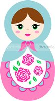 Doll Birthday Party theme Pink Doll Cutout