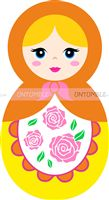 Doll Birthday Party theme Yellow Doll Cutout