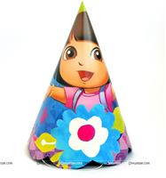 Dora theme  - Dora Birthday Party Hats