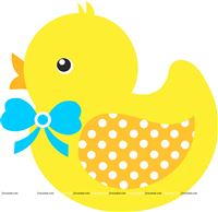 Rubber Duck theme Blue baby Duck poster