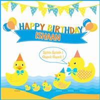 Rubber Duck theme Cute Duck theme Birthday Banner