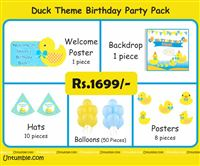 Rubber Duck theme Duck theme birthday MIni Party kit