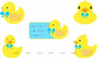Posters pack of 5 - Rubber Duck Theme Baby Shower | Duck 1st Birthday party