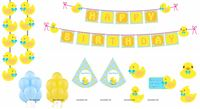 Party kits - Rubber Duck Theme Baby Shower | Duck 1st Birthday party