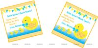 Rubber Duck theme Duck thank you cards