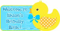Rubber Duck theme Blue Duck welcome poster