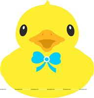 Rubber Duck theme  - Rubber Duck with bow poster