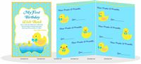 Rubber Duck theme Yellow duck custom wish book