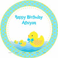 Table covers - Rubber Duck Theme Baby Shower | Duck 1st Birthday party