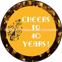 40th Birthday theme Cheers to 40 years poster