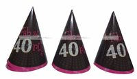 40th Birthday theme Hats