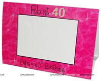 40th Birthday theme Photo Frame