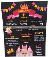 Fairy Princess Birthday theme 1st birthday Chalkboard - Princess theme