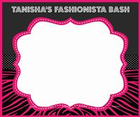 Fashionista theme  - Fashionista theme photo booth