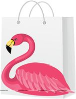 Stickered gift bags - Flamingo Theme Birthday Party Supplies & Decor
