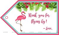 Flamingo supplies theme Flamingo Thank you Cards