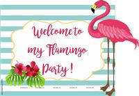 Flamingo supplies theme Flamingo Welcome Poster