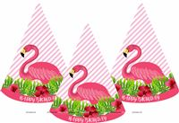 Flamingo supplies theme Pink Flamingo Party Hats