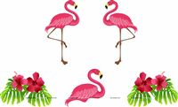 Flamingo supplies theme Pink Falmingos Poster Pack