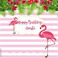 Flamingo supplies theme Pink Flamingo Backdrop