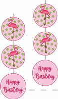 Flamingo theme - Pink Flamingo Disc Danglers