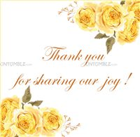 Floral Birthday Party theme Floral Thank you card