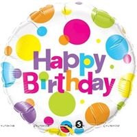 Party Supplies theme Polka Happy birthday Foil balloon