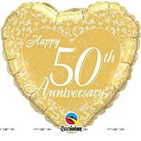 Party Supplies theme 50th Anniversary Foil Balloon