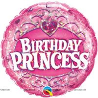 Party Supplies theme Birthday Princess Foil Balloon