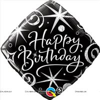 Party Supplies theme Black Happy birthday Foil balloon