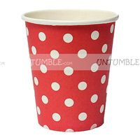 Christmas Decorations theme Red & white polka paper cups