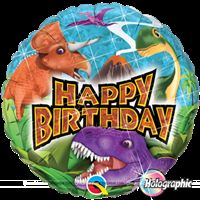 Party Supplies theme Dinosaurs Happy birthday Foil balloon