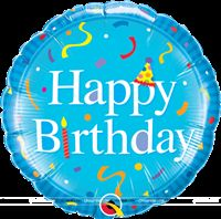 Party Supplies theme Blue Happy birthday Foil balloon