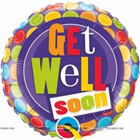 Party Supplies theme Get Well Soon Foil balloon