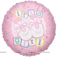 Party Supplies theme Its a Girl Foil Balloon