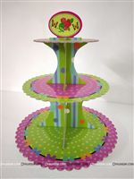 Party Supplies theme Pink and Green Cup Cake Stand
