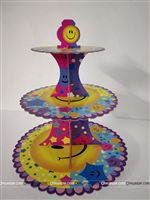 Party Supplies theme Smiley Cup Cake Stand