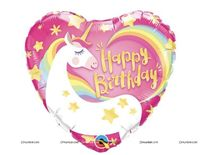 Unicorn theme - Unicorn Happy birthday Foil balloon