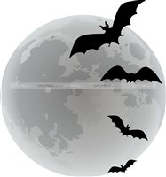 Halloween Decor theme Bats in the night poster